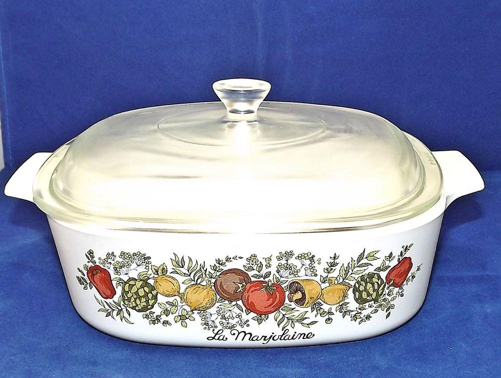 Vintage CorningWare 2 qt Casserole Dish With Pyrex Lid ...