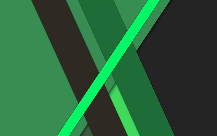 Descargar fondos de pantalla verde abstracción, diseño de ...