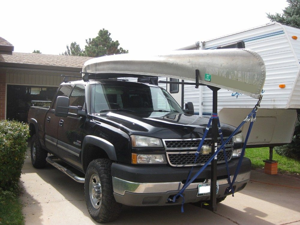 Thule Goalpost Hitch Mounted Load Bar Canoeing Truck