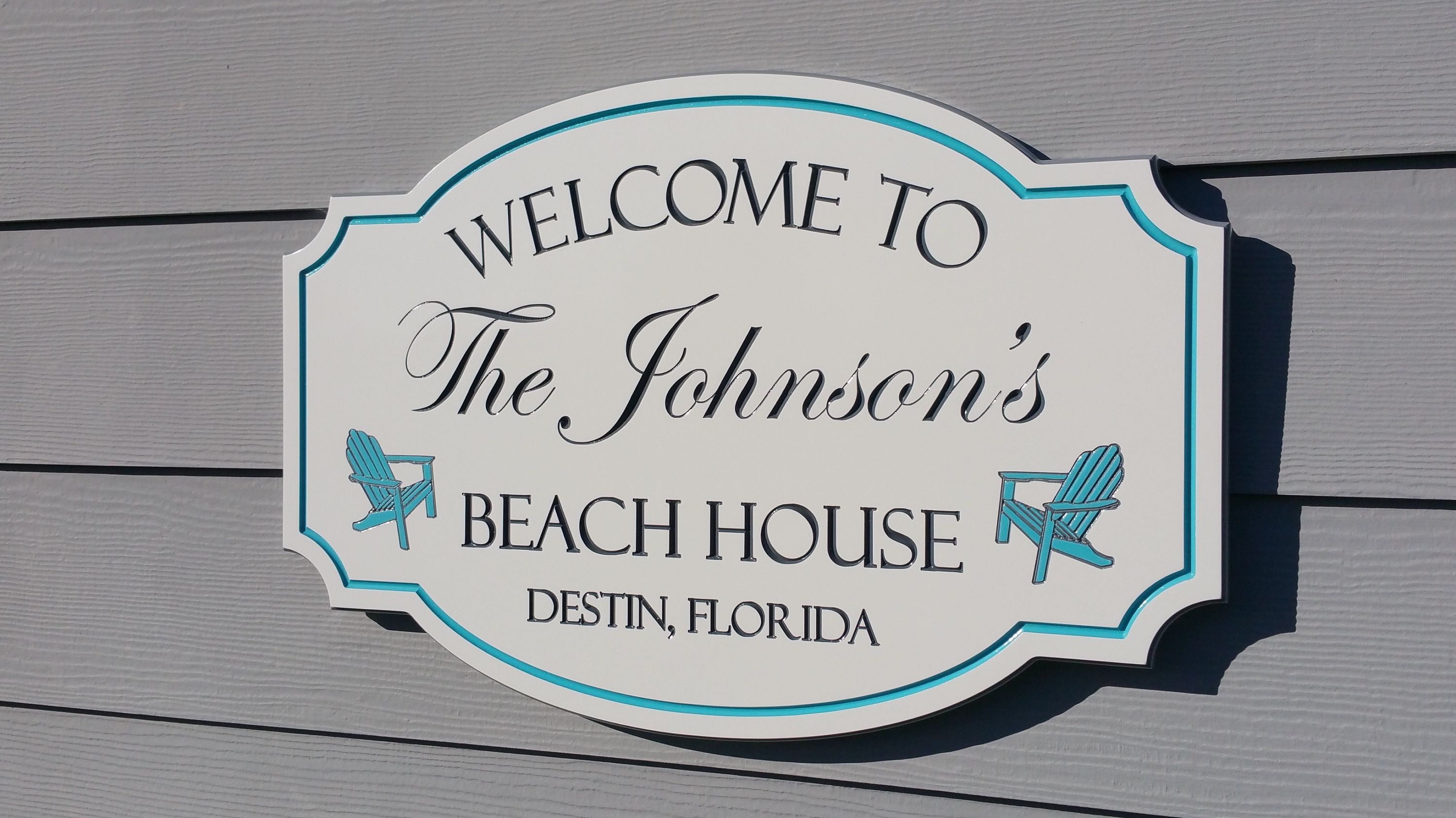 Beach House Welcome Signs Family Cottage Vacation Address Sign Custom Outdoor Signs Beach House Signs Personalized Signs