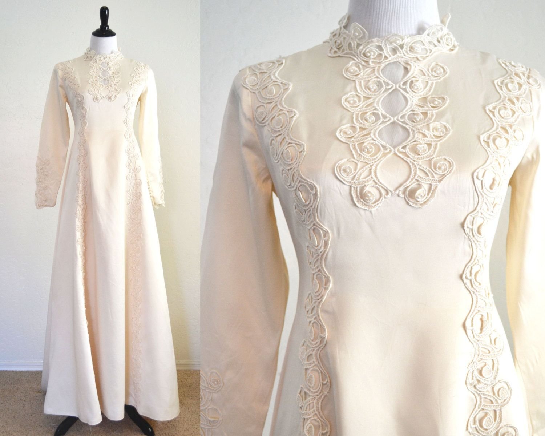 S wedding dress art nouveau details boho chic style edythe