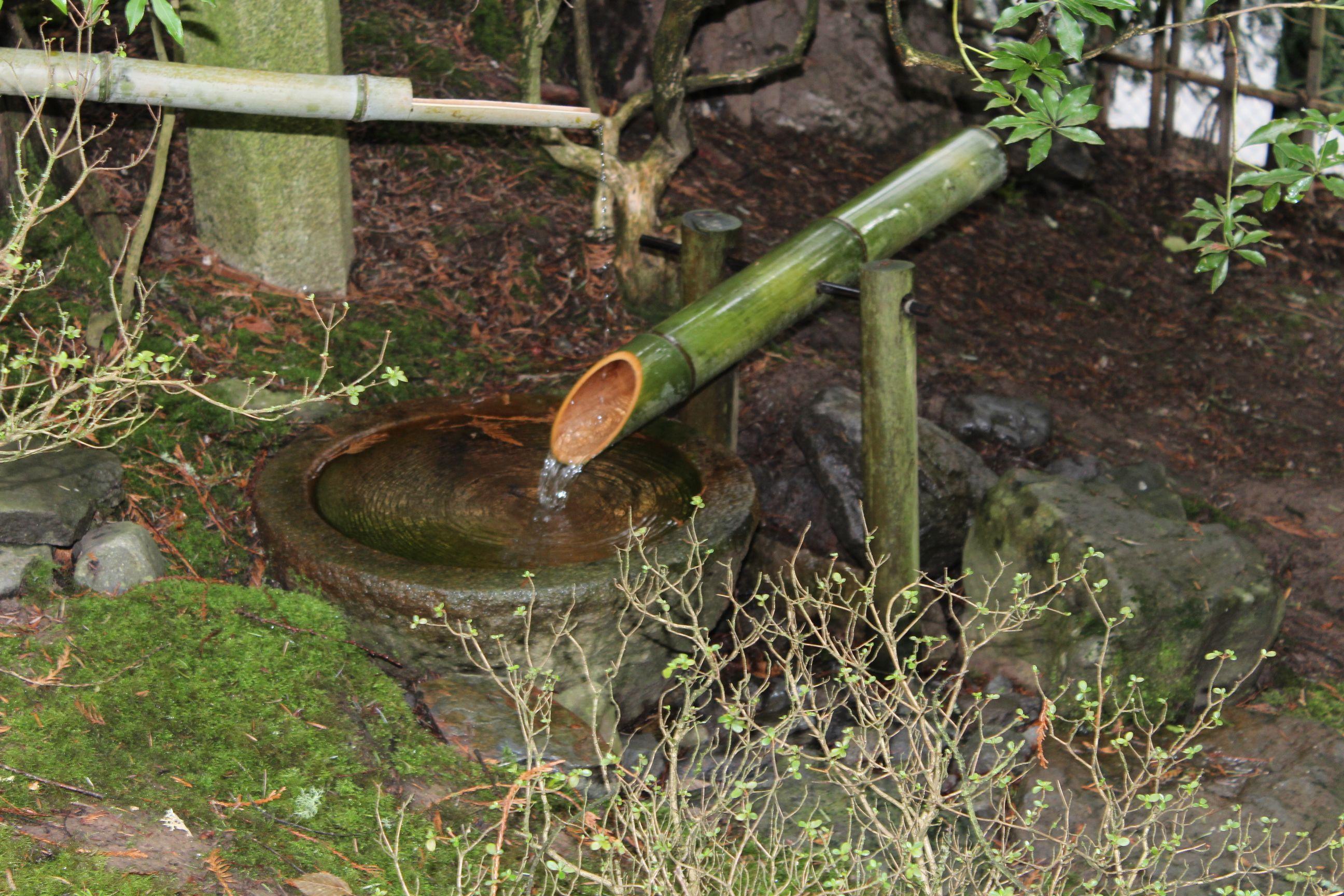 Bamboo Fountain At Portland S Japanese Garden Portland Japanese Garden Bamboo Fountain Japanese Garden
