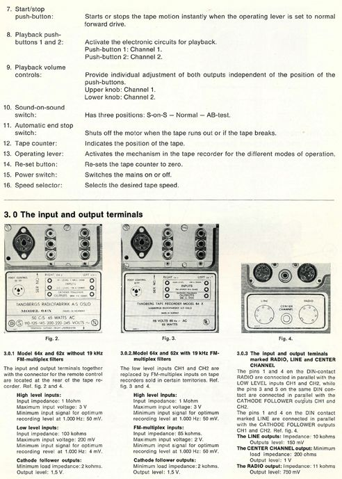 1962 service manual page showing controls for the tandberg series 6x rh pinterest com gillig phantom service manual phantom 2 service manual