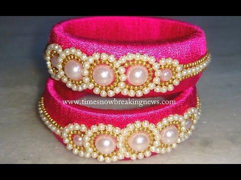how to make silk thread bangles at home   silk thread bangles ...