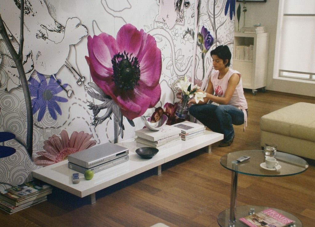 Flowers Wall Murals Are One Of The Concepts