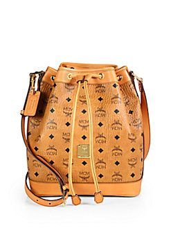MCM - Heritage Drawstring Shoulder Bag  9d12fa19f26