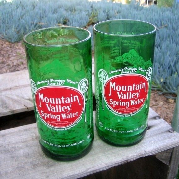 Mountain Valley Spring Water recycled bottle glass by bottlehood