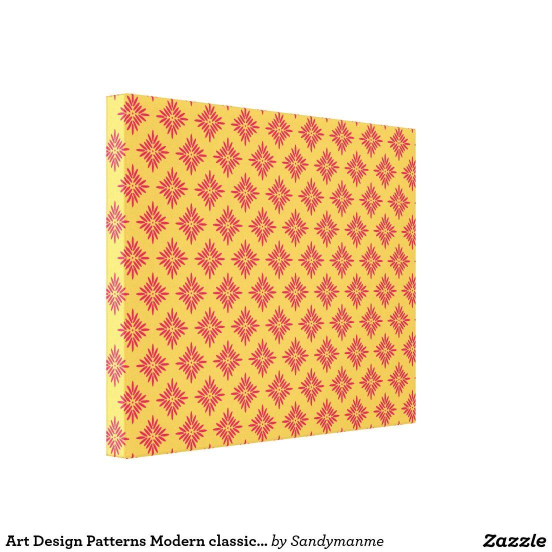 Art Design Patterns Modern classic tiles Beautiful Canvas Print ...