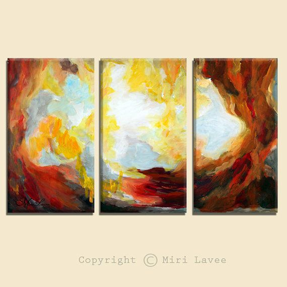 Large Wall Art, Astract Wall Art, Abstract Art Print, Wall Art Set, Large Art Prints, Abstract Landscape 3 Piece Wall Art