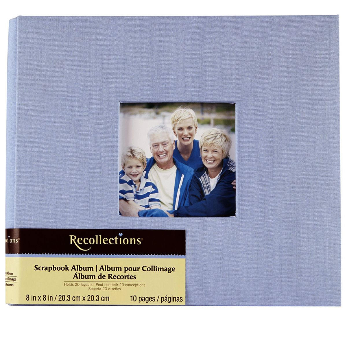 Recollections 8 X8 Cloth Scrapbook In Light Blue 14 99