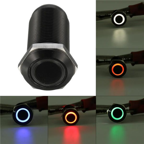 Dc 12v 4 Pin 12mm Latching Switch Led Light Metal Push Button Switch In 2020 Led Lights Led Metal