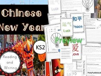 Chinese New Year Activity Pack (KS2/lower KS3) #KS3 #KS2 #literacy #maths #writing #edu #teachers #teach
