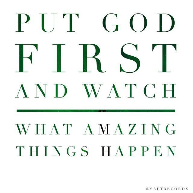 put god first in your life quotes