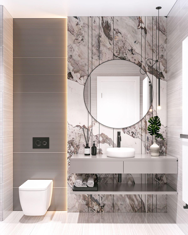Apartment In Baku A On Behance Minimalist Bathroom Design Washroom Design Bathroom Interior Design