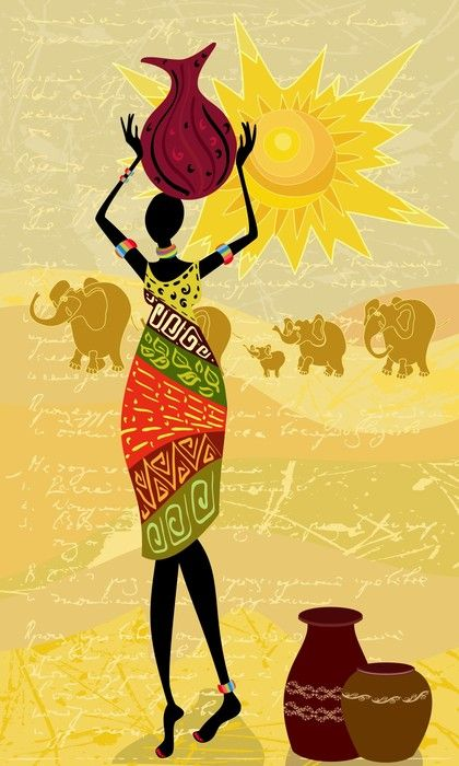 Art Print: #34844913 | African wall art, African art and African ...