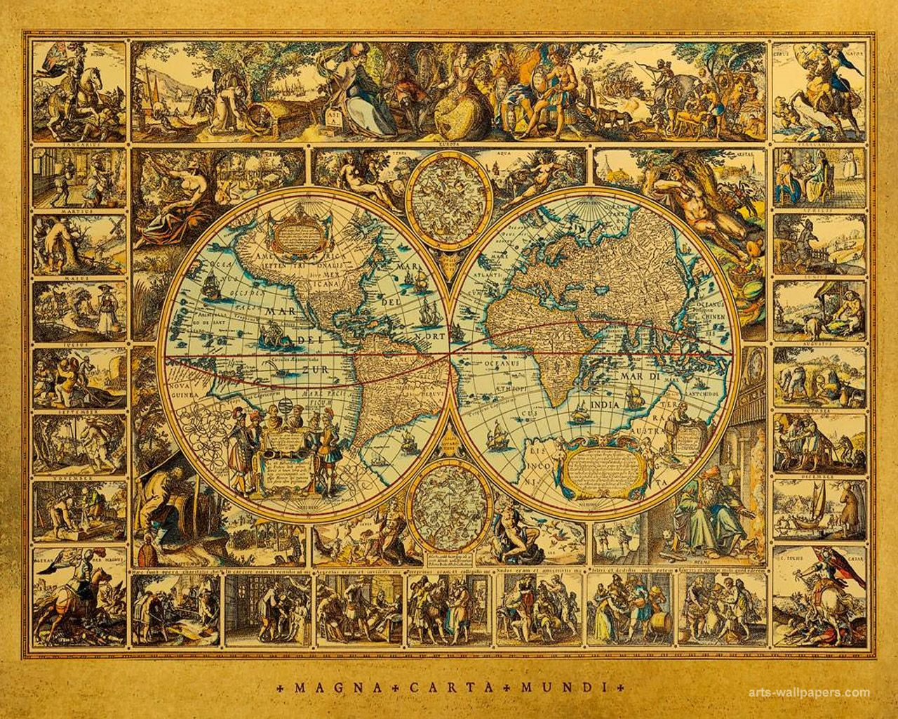 Instant download digital collage vintage maps 40 piece wallpapers vintage maps world antique map art print poster gumiabroncs Gallery