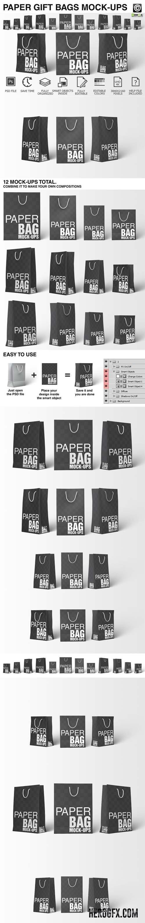 Download Paper Shopping Bag Mockups Bundle 434905 Bag Mockup Mockup Packaging Mockup