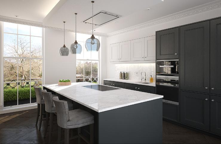 Gray Wood Kitchen Cabinets [ Top Tips & Tricks for 2020 ] - Contemporary grey kitchen, Grey kitchen cabinets, Upper kitchen cabinets, Grey kitchen, Top kitchen cabinets, Contemporary kitchen - Gray Kitchen Cabinets  Best Selection in Manhattan, Queens, and Brooklyn NY  Read this Ultimate Guide through Ideas and Styles and find the best option for you  Solid wood, quality finishes at affordable prices  Get a free estimate and visit us today!