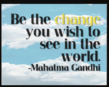 Free Motivational Classroom Poster | Motivasi, Gandhi, dan Pesan