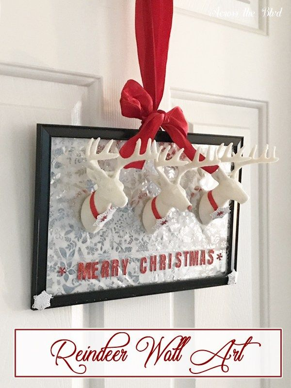 Dollar Store Craft Reindeer Wall Art Dollar store crafts, Dollar