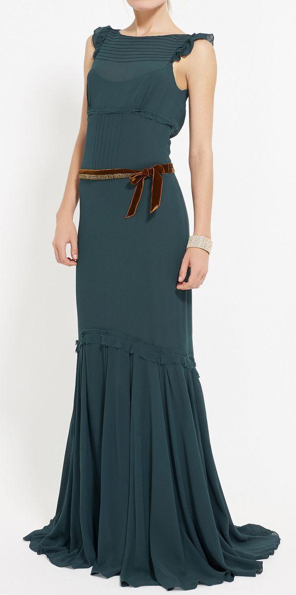 Vera Wang Emerald Green Dress