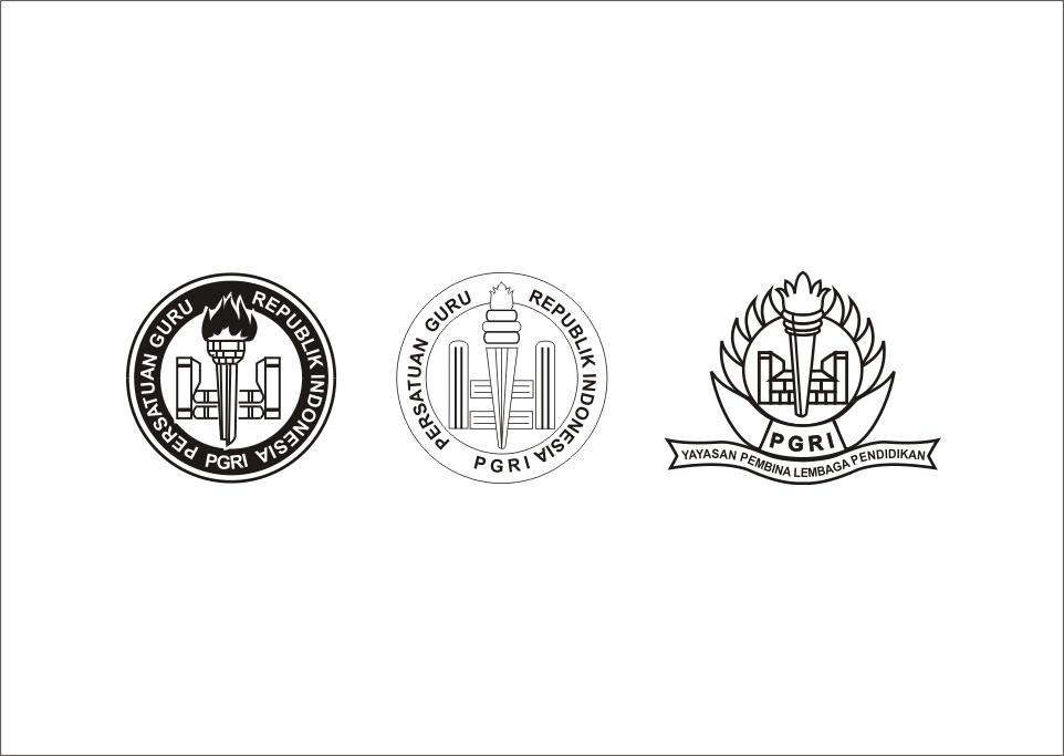 Logo PGRI Hitam Putih Vector cdr Ilustrasi, Desain