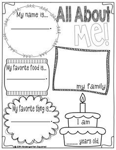 graphic about All About Me Kindergarten Printable named all concerning me kindergarten printable - Google Glance