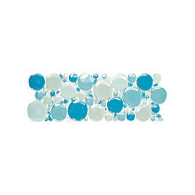 Voguebay Gl Bubbles Mosaic Border 4 X 12 Garden City