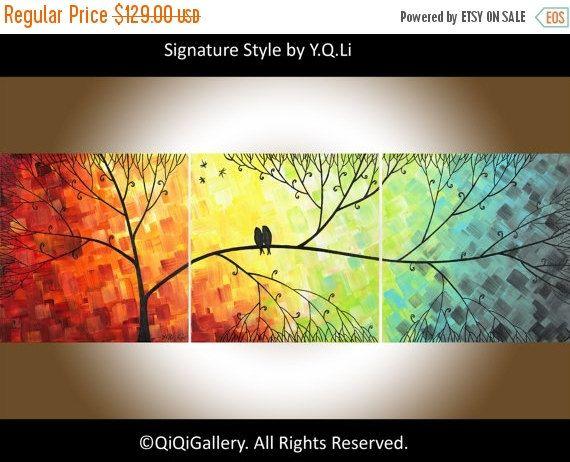 Contemporary wall art love birds art 48\