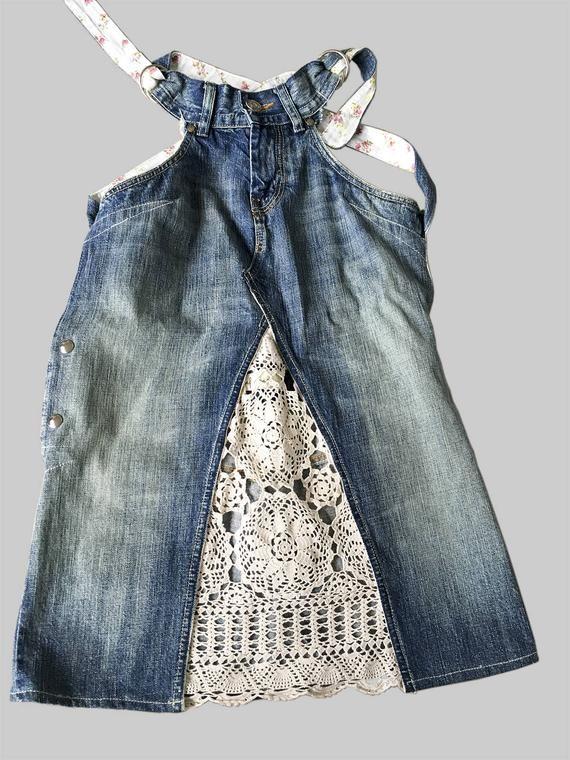 vestidos de jeans dokjurk, ajuste suelto, forma de línea A: HECHO PARA PEDIR