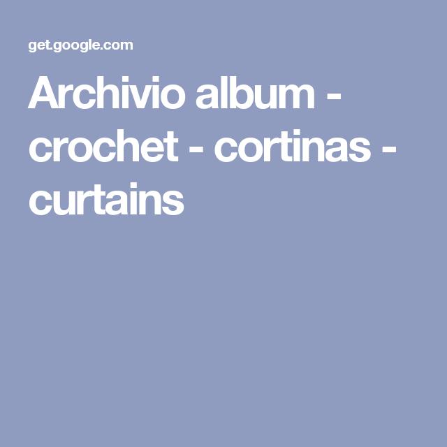 Archivio album - crochet - cortinas - curtains