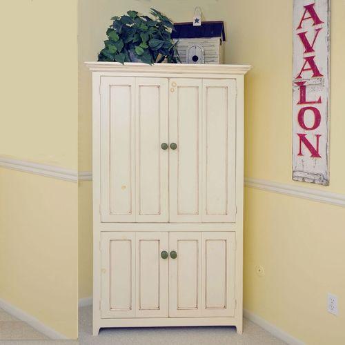white corner pantry cabinet bedroom | Tall Corner TV ...