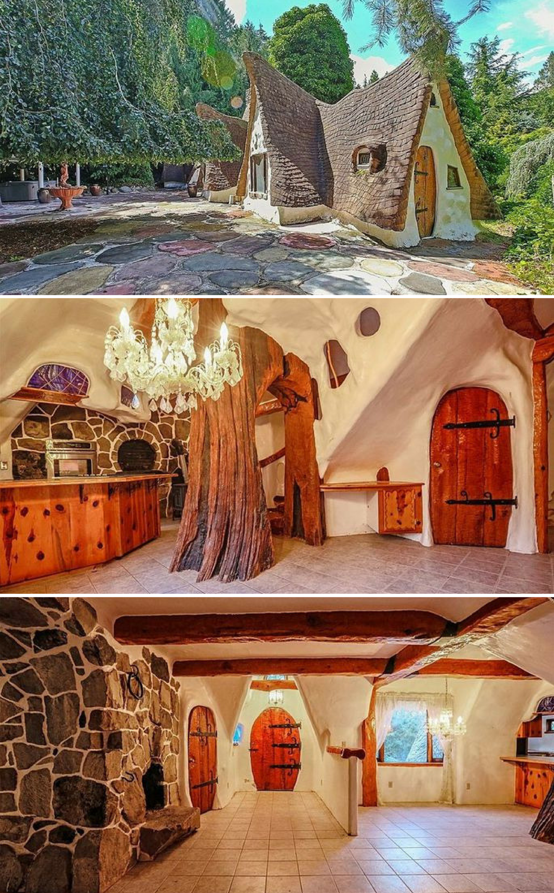 A Fairy Tale Cottage With Tree Inside