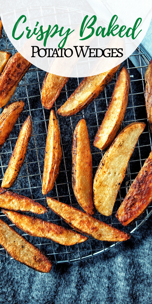 Need a recipe that's affordable, accessible, using long-lasting pantry products? Crispy baked potato wedges are definitelya great start. #baked #frenchfries #fries #seasoned #homemade #intheoven #recipe #seasonedfries #cooking #kidfriendly #snacks #sides #sidedishes #roastedpotatoes #russet #russetpotatoes #idahopotatoes #budgetfood #cheapfood #budgetfriendly #pantryfood #pantryfriendly via @plantbasedandbroke