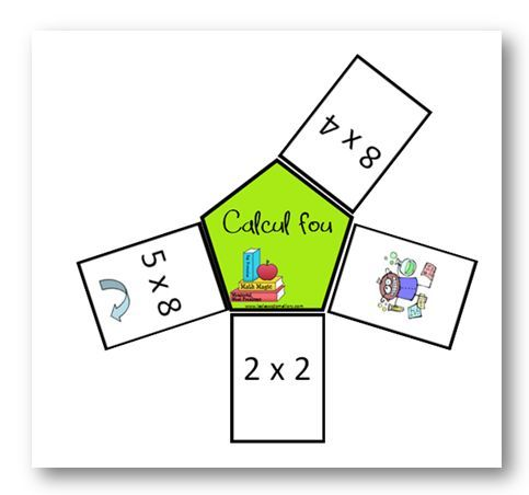 Calcul fou jeu sur les tables de multiplication table for Jeu des multiplications