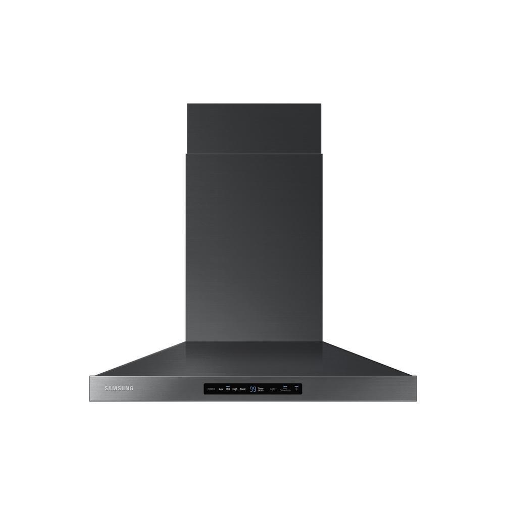 Samsung 30 In Wall Mount Exterior Venting Range Hood In Black Stainless Steel Stainless Steel Hood Stainless