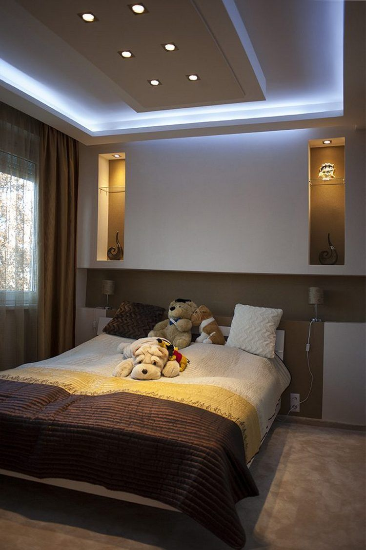 Contemporary Bedroom Designs Ideas With False Ceiling And Decorations Ceiling Design Bedroom Bedroom Interior Contemporary Bedroom Design