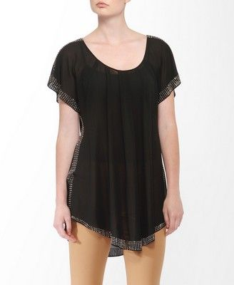 Reception Dance, Rhinstoned A-Line Tunic, Available in Black or White, $29.80