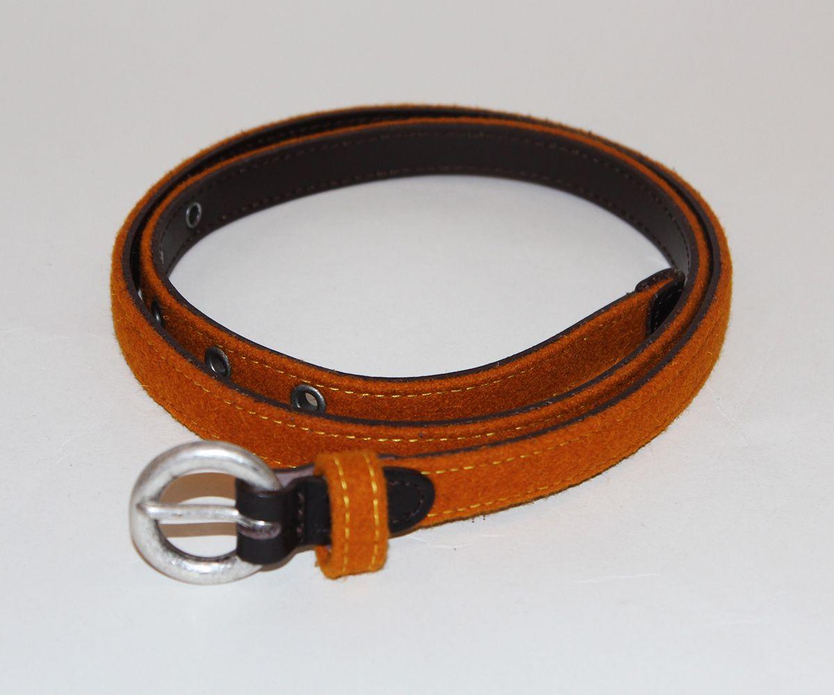 Leather and Burel Belt