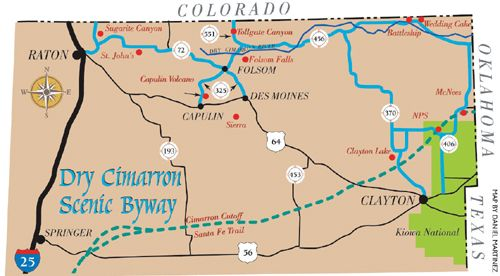 Dry Cimarron Scenic Byway New mexico | Texas - Lone Star