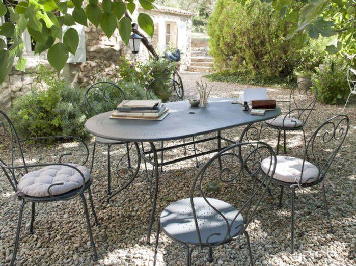 impressionnant salon de jardin fer | décoration française