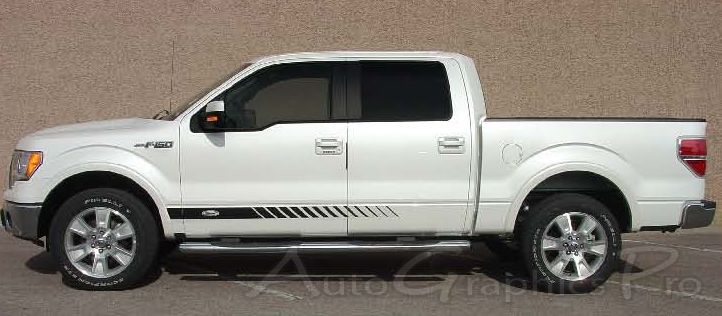 Ford F ROCKER STROBES Lower Rocker Stripes Vinyl Decal - Badass decals for trucks