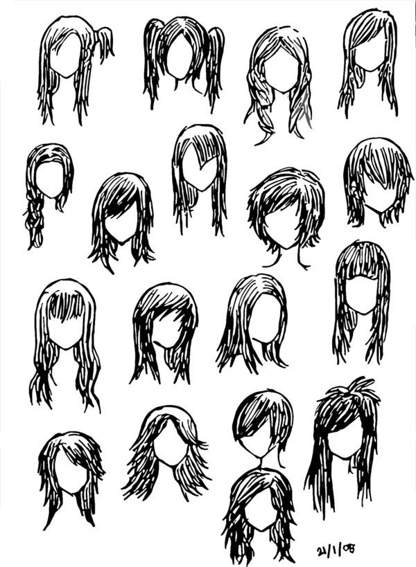 How To Draw Emo Hair :