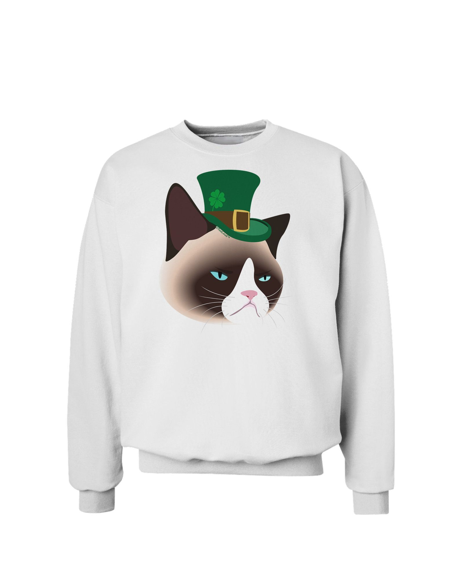 TooLoud Leprechaun Disgruntled Cat Sweatshirt