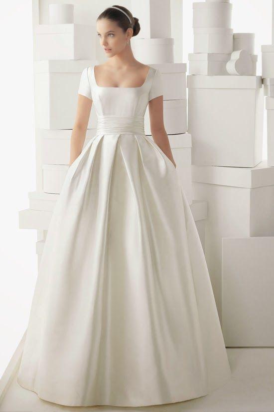 Telas para vestido de novia civil