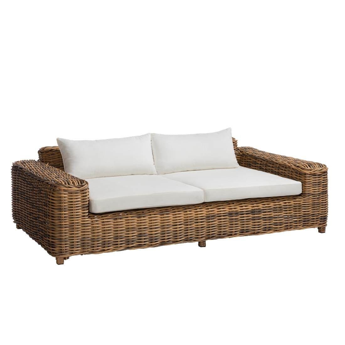 Outliv Versailles Luxury 2 Sitzer Sofa Geflecht Lounge Sofa Garten Rattan Lounge Mobel Wohnzimmerbeleuchtung
