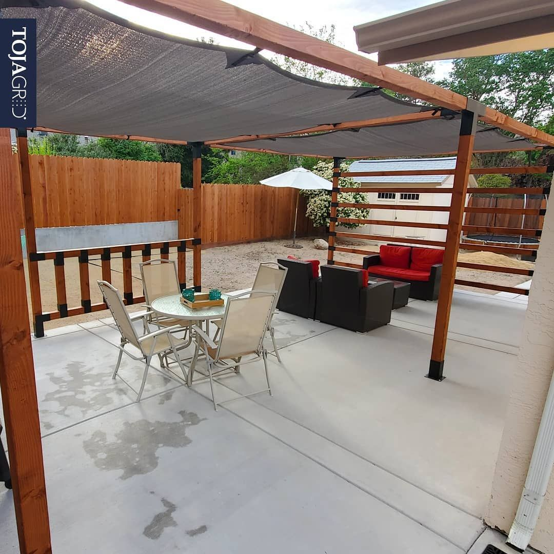 Double pergola kit for 6x6 wood posts toja grid in 2020