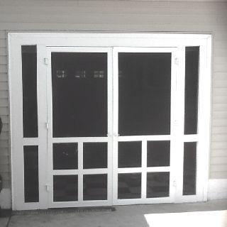 Homemade Screen Doors For Garage Door Opening Love This Idea