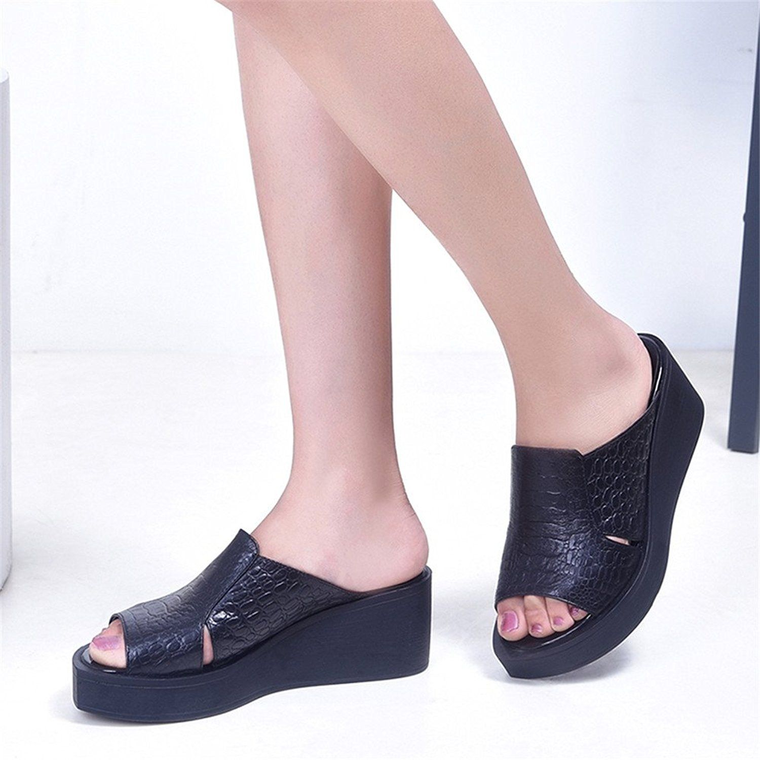0e88764c11453 Amazon.com | Nedal Women's Open Toe Summer Platform Slipper Sandals ...