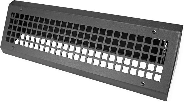 Low Profile Turn Of The Centry Metal Baseboard Register From
